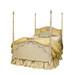 Bed Size: Full Finish: Versailles Creme with Versailles Blue Mouldings Option: Standard Appliqued Moulding