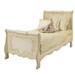 Bed Size: Twin Option: Hand Painted Milano Motif Finish: Tea-Stain over Antico Whit