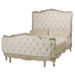 Bed Size: Queen Finish: Antique Silver Gilding Fabric: C.O.M. - Customer's Own Material Option: Button Tufting Upholstery