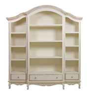 Elena Bookcase Finish: Versailles Crème Knobs: Glass Knobs with Gold Base