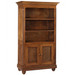 Evan Bookcase Finish: Chateau Door Option: Caning Knobs: Wood Knobs in Chateau Finish