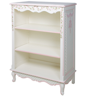 Small French Bookcase Finish: Linen Trim Out: Pink Hand Painted Motif: Ribbons & Roses
