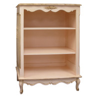 Small French Bookcase Finish: Versailles Pink Appliqued Moulding Option: AFK Standard Moulding in Versailles Pink