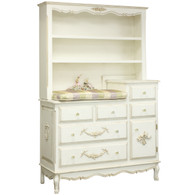 French Changer and Hutch: Versailles Crème