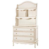 French Wide Chest and Hutch: Versailles Crème