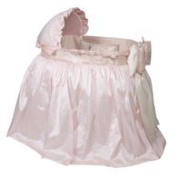 Sienna Bassinet: Pink Silk