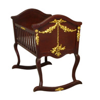 Cherubini Cradle: Antique French Walnut / Gold Gilding