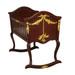 Cherubini Cradle: Antique French Walnut / Gold Gilding