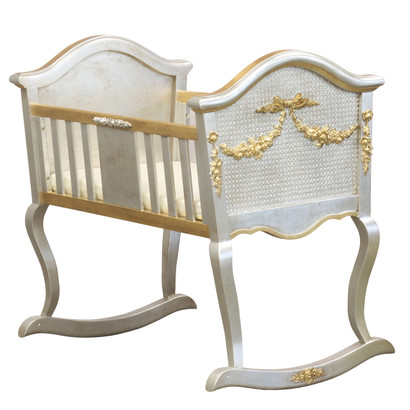 Cherubini Cradle: Silver Gilding with Gold Gilding