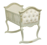 Upholstered French Cradle: Versailles Blue / Ivana