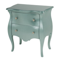 Capri Night Table: Metallic Teal