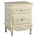 French Night Table: Bordeaux Toile