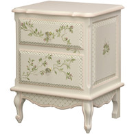 French Night Table: Floral Vines