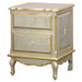 French Night Table: Silver Gilding with Gold Gilding
