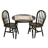 Round Play Table and Chair Set: Nautical Black