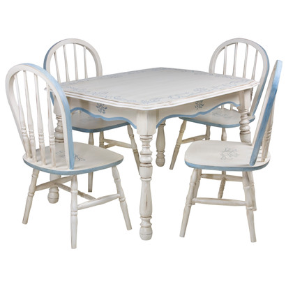 Vintage Play Table and Chair Set: Bordeaux Toille