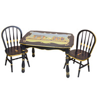 Vintage Play Table and Chair Set: Circus