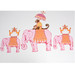 Vintage Play Table and Chair Set: Elephants on Parade Detail