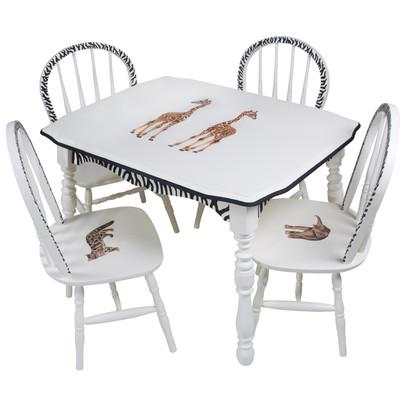 Vintage Play Table and Chair Set: Safari