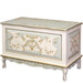 French Toy Chest Finish: Linen / Reef Blue / Gold Hand Painted Motif: Verona