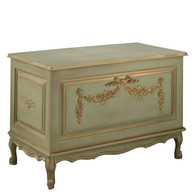 French Toy Chest Finish: Versailles Green Appliqued Moulding Option: AFK Standard Moulding