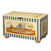 Toy Chest Finish: Tea-Stain over Antico White Hand Painted Motif: Circus