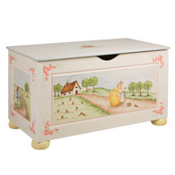 Toy Chest Finish: Antico White Hand Painted Motif: Enchanted Forest
