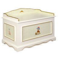 Vintage Toy Chest Finish: Antico White / Green Gingham Trim Out: Gold Gilding Hand Painted Motif: Classic Enchanted Forest