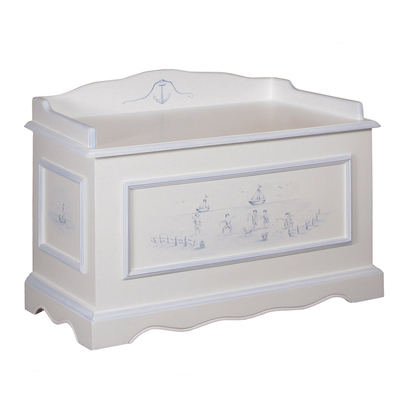 Vintage Toy Chest Motif: Seashore Toile Finish: Snow / Blue