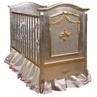 Cherubini Crib Finish: Silver Gilding with Gold Gilding
