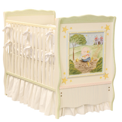 Cottage Crib Hand Painted Motif: Nursery Rhymes Finish: Linen