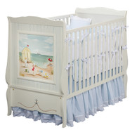 Cottage Crib Hand Painted Motif: Seashore Finish: Antico White