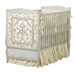 Cottage Crib Hand Painted Motif: Verona Finish: Reef Blue / Linen / Gold