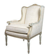 Cyrano Chair: Versailles Blue / Jane Ivory