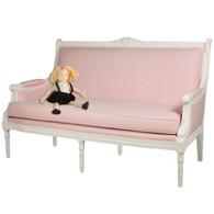 Eloise Sofa: Antico White / Pique Baby Pink