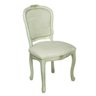 French Desk Chair Frame Finish: Versailles Blue Fabric: C.O.M. / Custom's Own Material Seat Back: Standard Caning