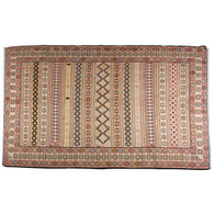 Turkish Sumak Flat Woven Silk Rug