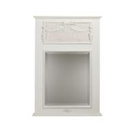 Trumeau Mirror:  Antico White / Pink