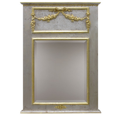 Trumeau Mirror: Silver Gilding / Gold Gilding