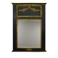 Trumeau Mirror: Black / Gold Gilding