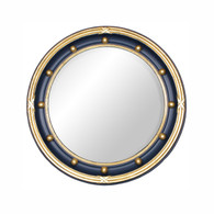 Federal Mirror: Navy / Gold Gilding