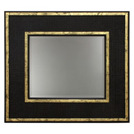 Evan Mirror: Black / Gold Gilding