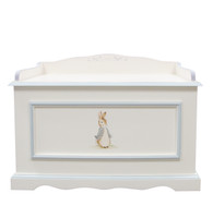 Vintage Toy Chest Finish: Antico White / Blue Hand Painted Motif: Classic Enchanted Forest