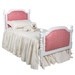 Bed Size: Twin Option: Tight Back Upholstery on Head and Footboard Finish: Snow Fabric: C.O.M - Customer's Own Material