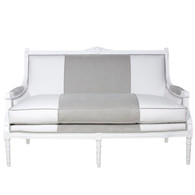 Eloise Sofa: Snow / Dakota White / Dakota Gray