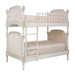Bed Size: Twin Over Twin Finish: Versailles Creme Fabric: AFK Empress Pink Option: Tight Back Upholstery