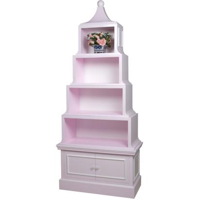 Pagoda Bookcase Finish: Custom Lilac Interior Back Finish: Snow Trim Out: Snow Knobs: Custom Knobs