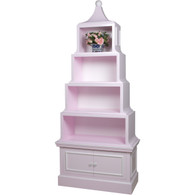 Pagoda Bookcase Finish: Custom Lilac Interior Back Finish: Snow Trim Out: Snow Knobs: Custom Knobs