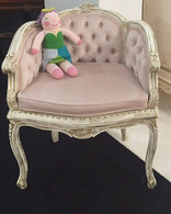 Georgette Chair: Versailles Creme / Powder Pink