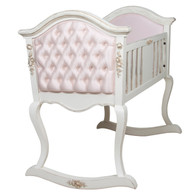 UPHOLSTERED FRENCH CRADLE: Versaillles Creme / C.O.M